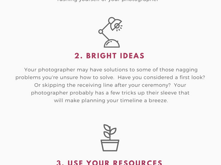 4 Reasons To Seek Your Photographer's Help Creating Your Timeline So Your Wedding Day Is Absolut