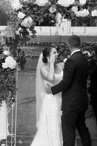 intimate emotional wedding ceremony at Buffalo NY's Mansion on Delaware