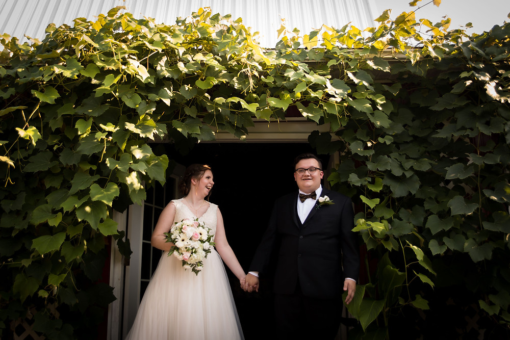 bride groom photo at Becker Farms Vizcarra Vineyards Gasport NY intimate wedding elopement