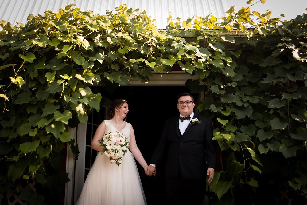 bride groom photo at Becker Farms Vizcarra Vineyards Gasport NY intimate wedding elopement