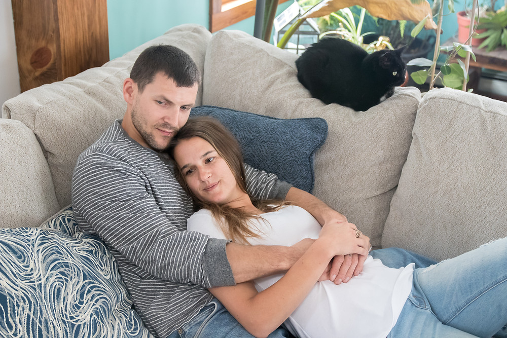 western NY wny in home engagement photography