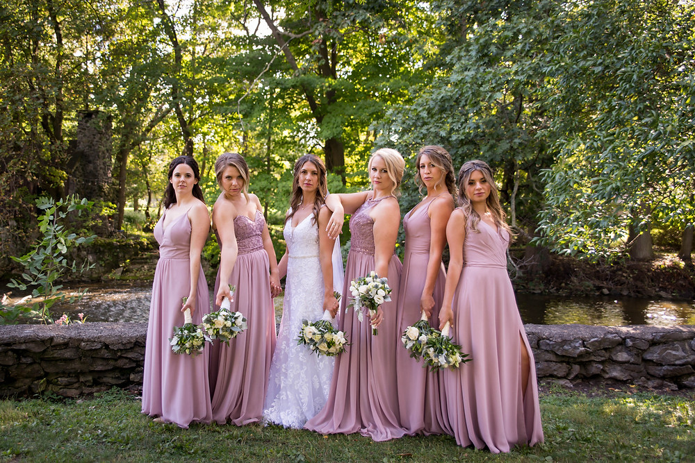 bridesmaids Island Park Williamsville NY wedding day bridal portrait