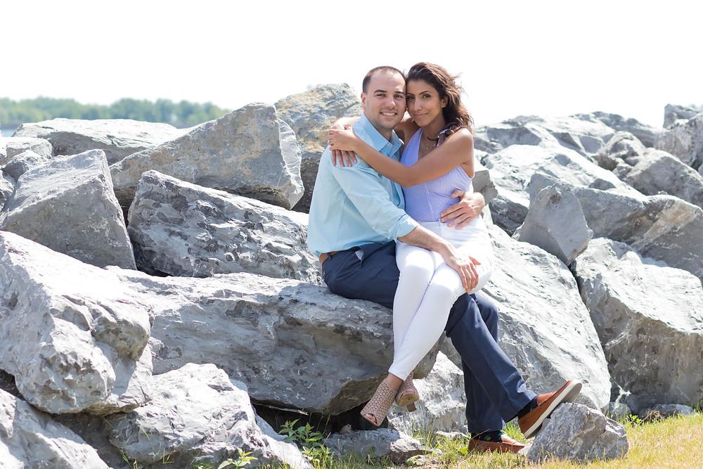 Buffalo Harbor State Park Engagement Portraits