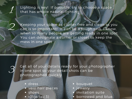 5 Tips for Stunning Getting Ready Images