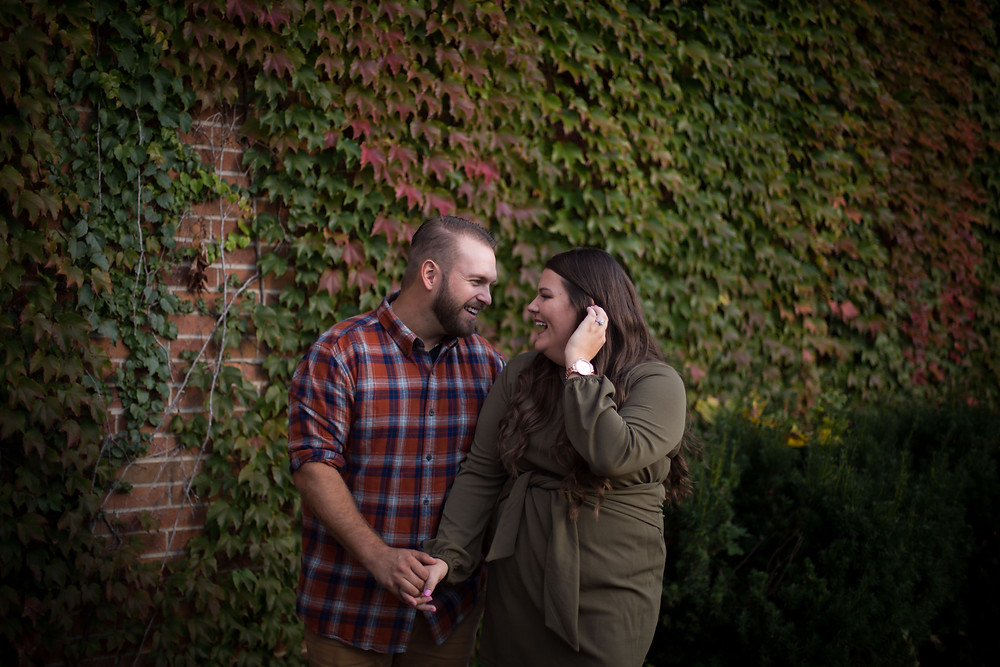 best fall foliage east aurora ny theater engagement photo