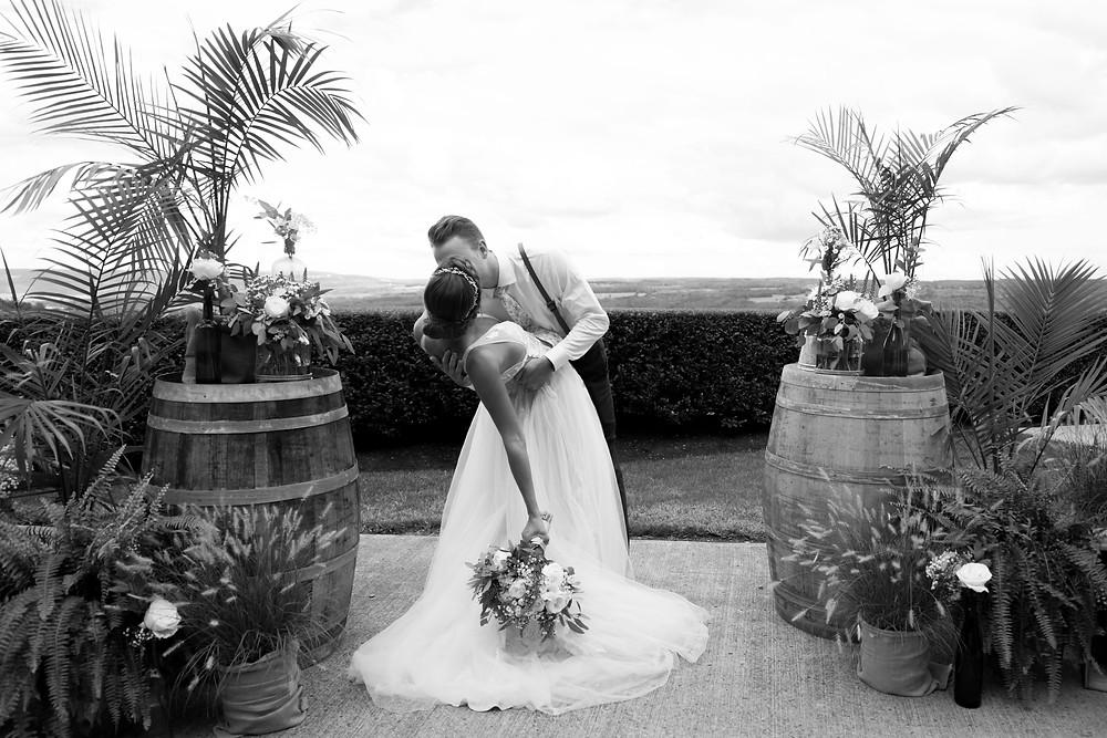 Heron Hill Wedding Venue overlooking Keuka Lake Finger Lakes NY