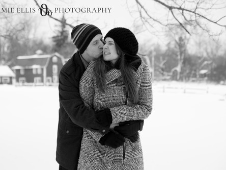 Sarah + Andy's East Aurora engagement session at Knox Farm + 42 North Brewing