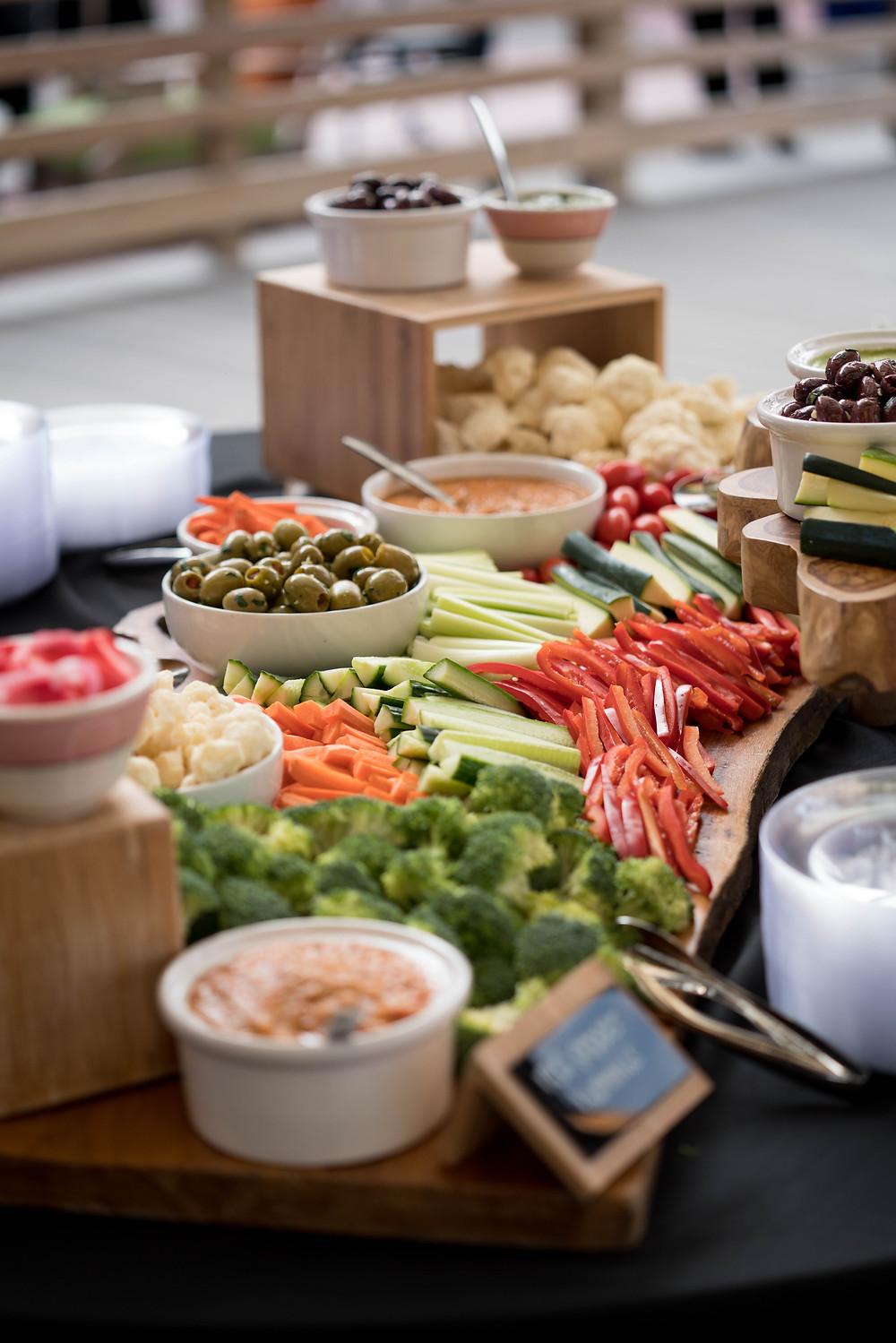 Larkinville Buffalo NY Larkin Wedding Reception food spread