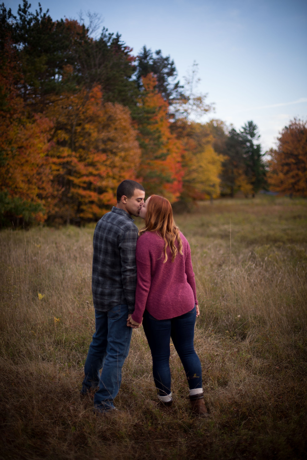 fall engagement couple shoot at Chestnut Ridge Orchard Park