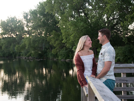 Margaret & Chad's Sunrise Engagement at the Lake Erie Waterfront | Buffalo NY