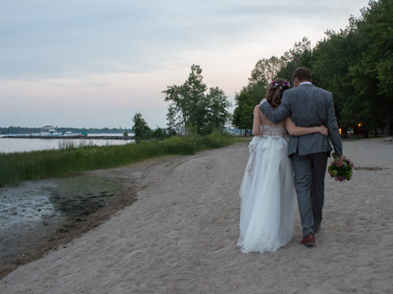 Sarah & Jonah celebrate their love at the beach!  Beaver Island Wedding