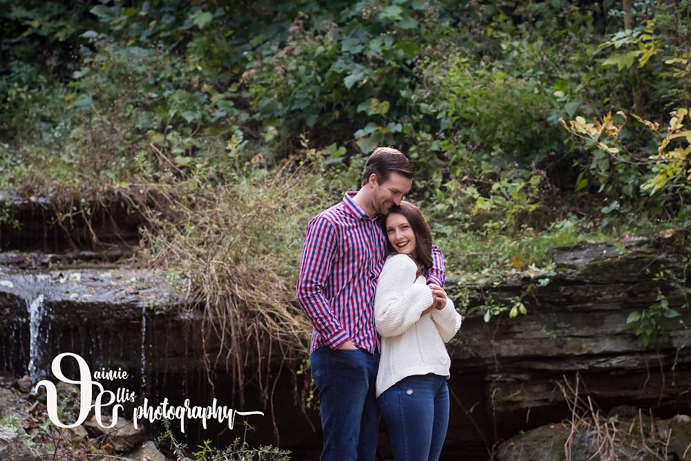 Glen Falls Park Williamsville Engagement Photo