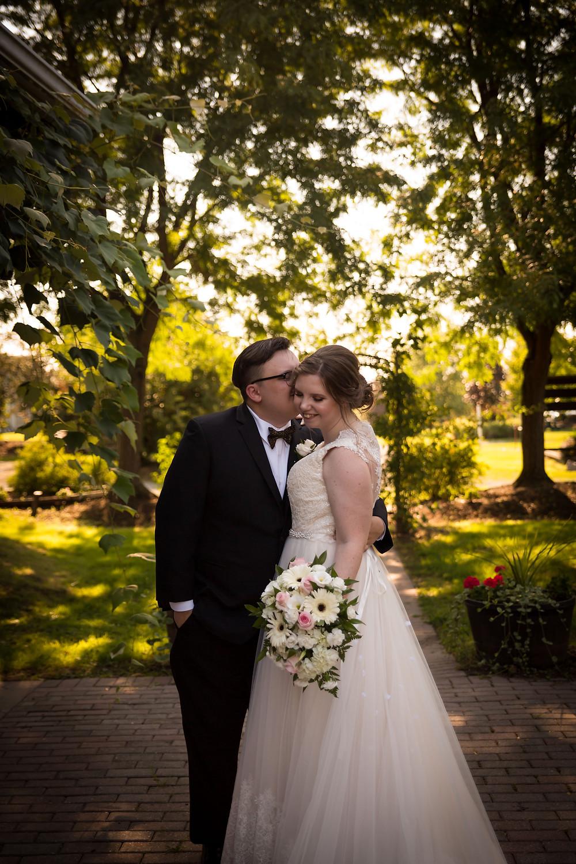 bridal portrait Becker Farms Vizcarra Vineyards Gasport NY summer wedding elopement