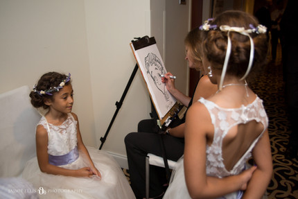 Canalside Caricatures at wedding reception at Delaware Mansion in Buffalo
