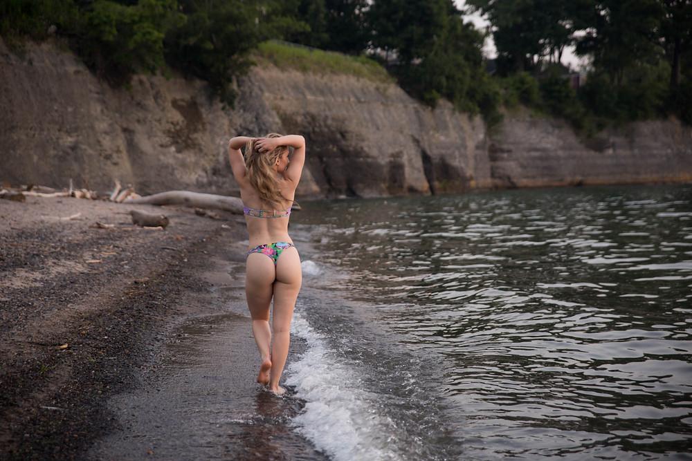 hamburg beach new york boudoir session lake erie