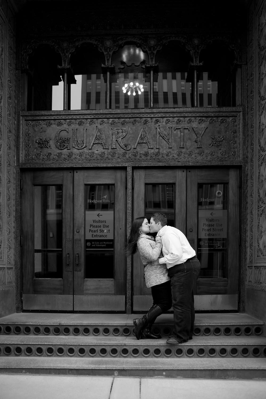 lgbt same sex wedding photographer downtown buffalo engagement session