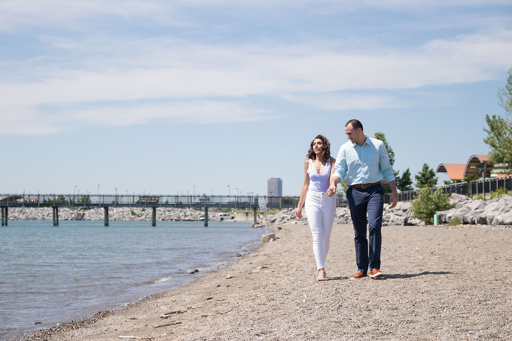 Gallagher Beach couples engagement photo Buffalo NY