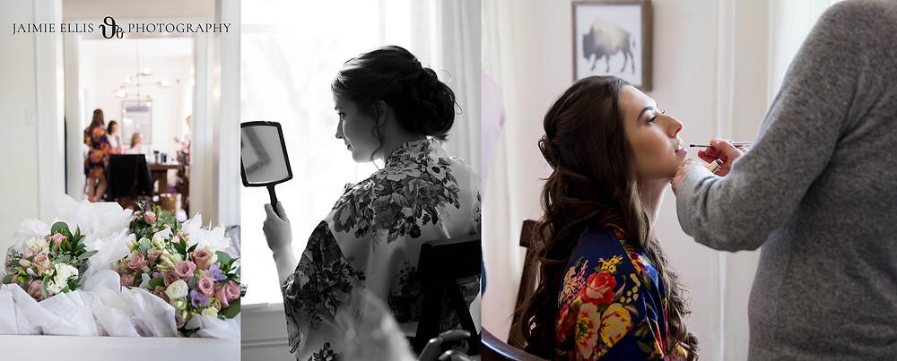 salonagogo Buffalo bride getting ready for wedding