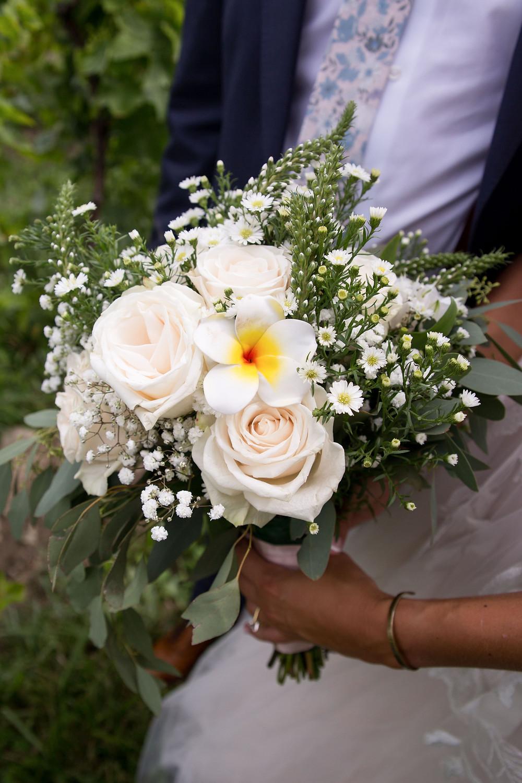 wildflower bouquet with Hawaiian flower