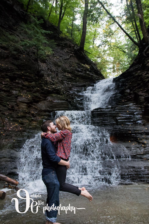 eternal flame trail chestnut ridge park engagement photo