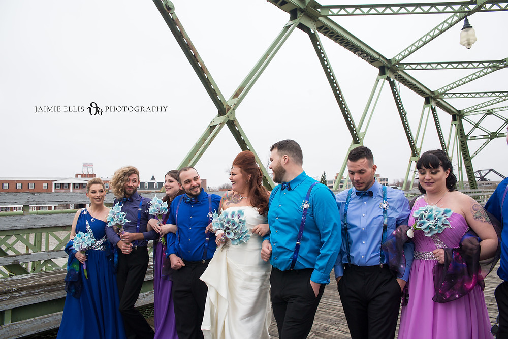 Wedding Party at Tonawanda's Gateway Harbor Park on Homestead Bridge