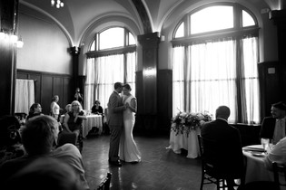 Hotel Lafayette Buffalo Lafayette room bride and groom first dance