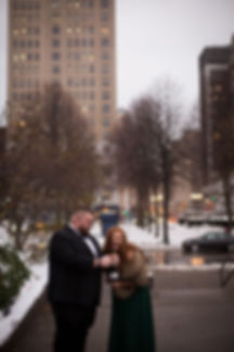 Downtown Buffalo NY urban elopement inti