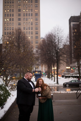 Downtown Buffalo NY urban elopement inti