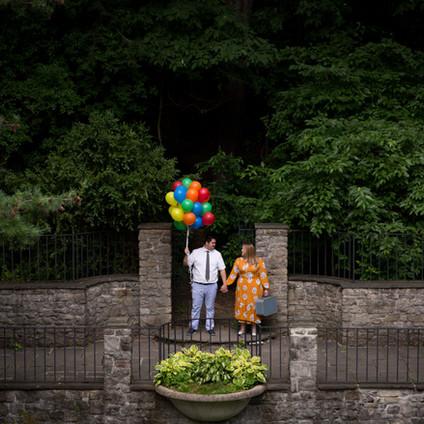 Bre + Nick's Disney's UP themed engagement session | Sunken Garden Rochester NY