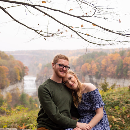 Letchworth State Park fall engagement session