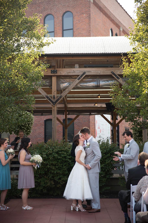 Larkinville Buffalo NY Larkin Wedding Ceremony Outdoor venue
