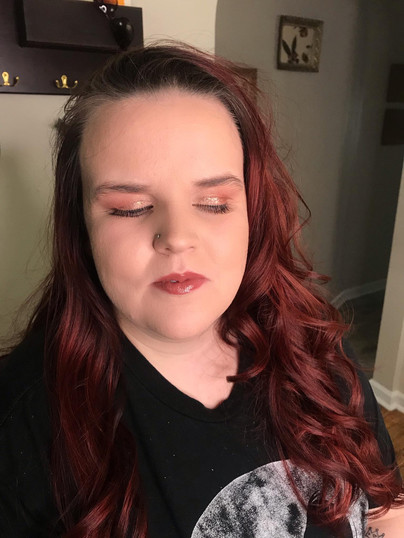 boudoir styling hair and makeup after photo