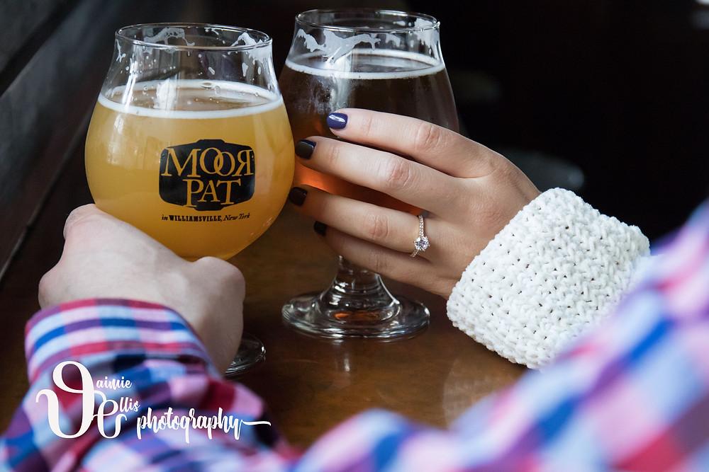 Moor Pat Williamsville Engagement Photos bar pub