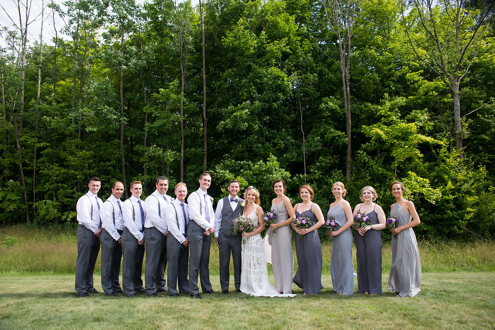 bridal party photo at La Esposita Bonita Wedding in Varysburg NY