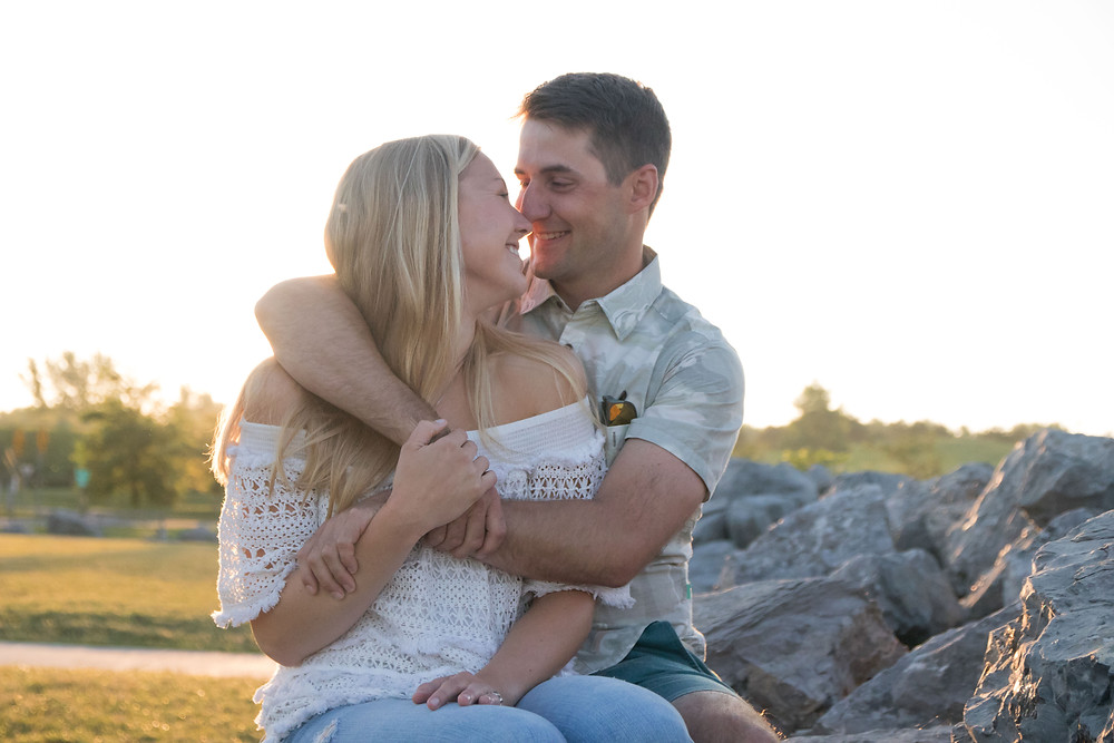 Buffalo Harbor Park Sunrise Engagement Photography
