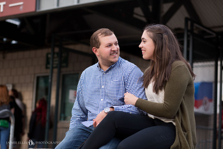 engagement photo at Sahlen Field Buffalo NY for a Bisons Baseball game