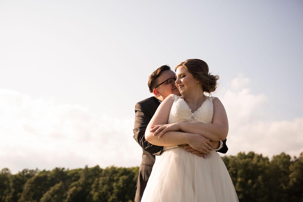Becker Farms Vizcarra Vineyards Gasport NY intimate wedding elopement bridal portrait