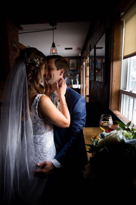 moor pat pub bar williamsville NY bride groom wedding party photo