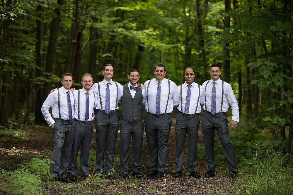 groomsmen photo at La Esposita Bonita Wedding in Varysburg NY