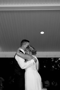 bride and groom share first dance at Banchetti by Rizzo Buffalo NY wedding reception