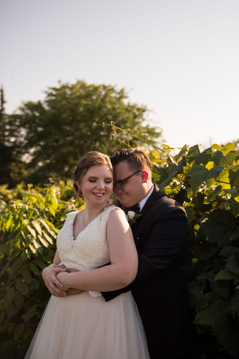 bridal portrait Becker Farms Vizcarra Vineyards Gasport NY intimate wedding covid