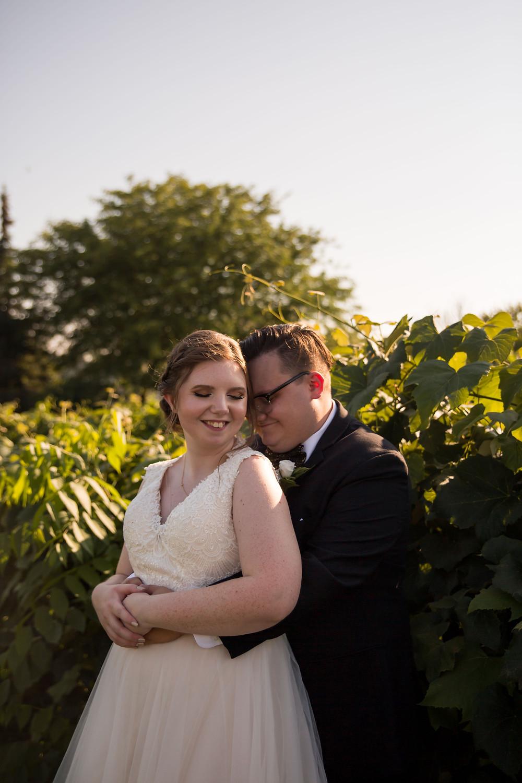 bridal portrait Becker Farms Vizcarra Vineyards Gasport NY intimate wedding covid