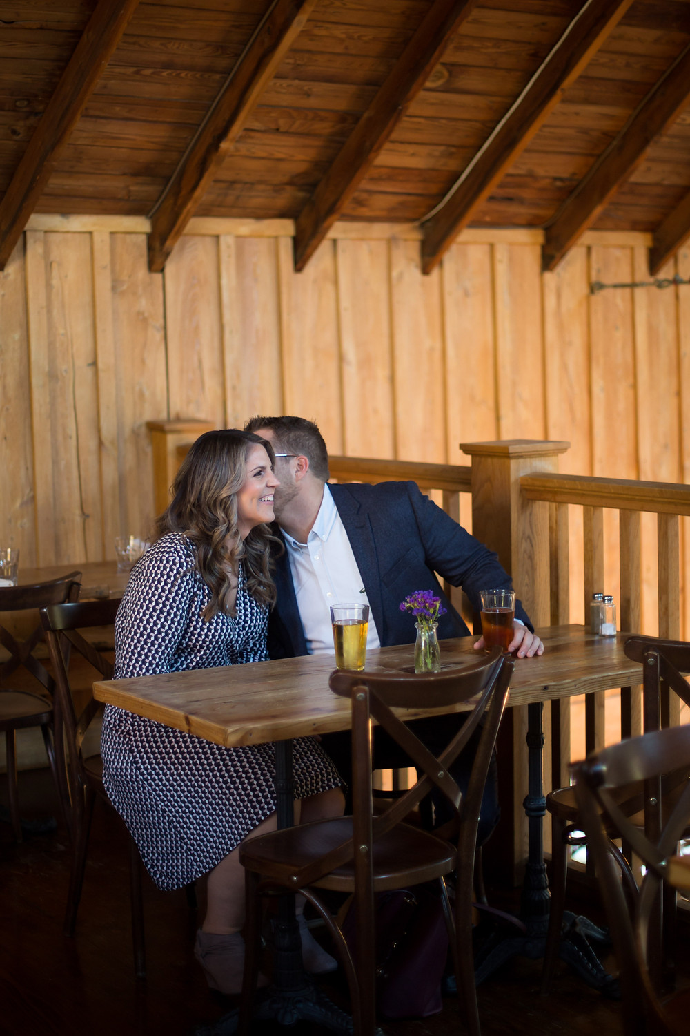 local beer Elm St Bakery couple engagement photo East Aurora NY