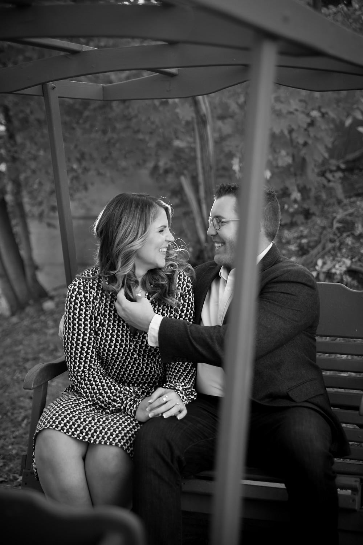 formal couple engagement photo Elm St East Aurora NY