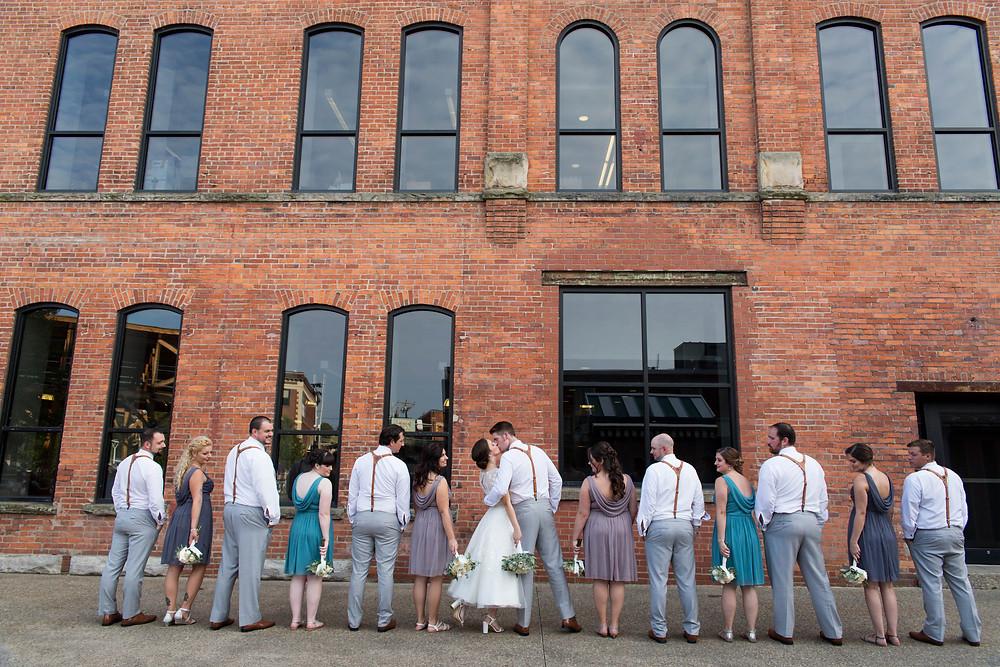 Larkinville Buffalo NY Larkin Wedding Bridal Party Photo