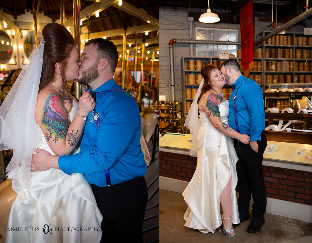 Herschell Carrousel Museum Wedding Photo