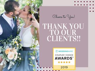 Wedding Wire Couple's Choice Winner 2019 :)