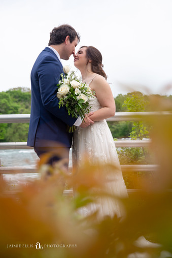 outdoor adventurous bride and groom so happy after intimate wedding at Niagara Falls State Park NY USA