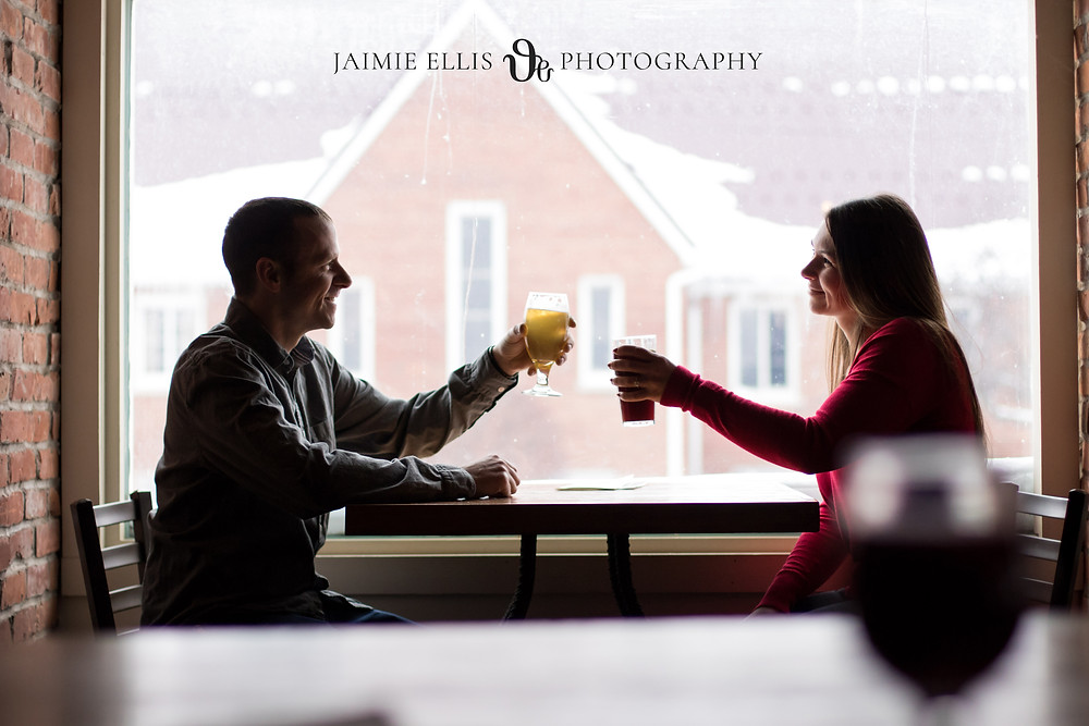 42 North Brewing Winter Engagement Session in East Aurora NY