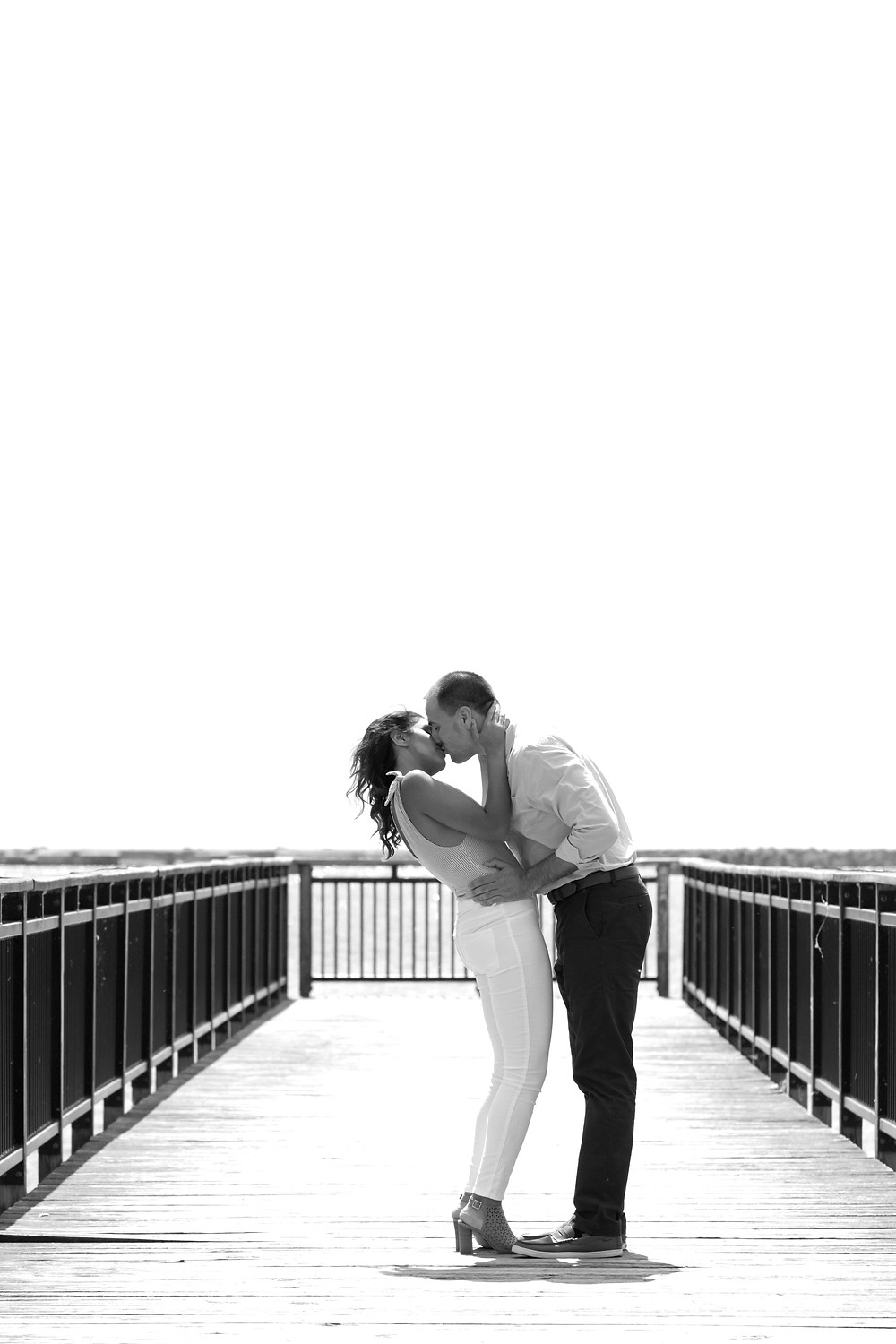 Gallagher Pier engagement photo Buffalo NY